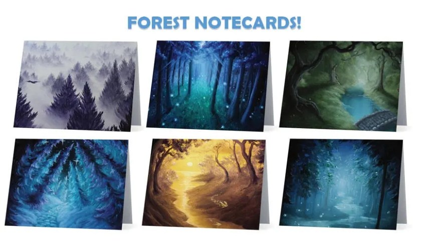 Forest Art Notecard Blank...