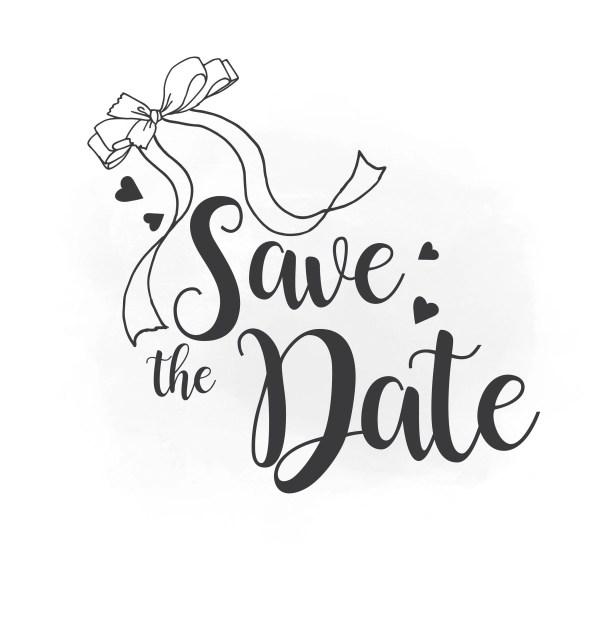 save date svg clipart wedding