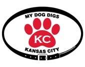 MAGNET - My Dog Digs KC -...