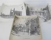 Signed Art, Etching of Ca...