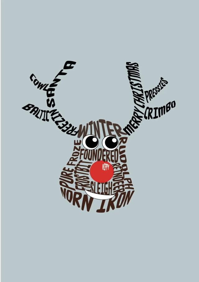 Christmas card: Rudolph...