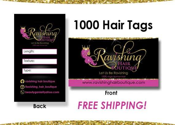 1000 Hair Tags Hair Extension Cards Hair Hang Tags Virgin