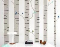 Birch wall decal | Etsy