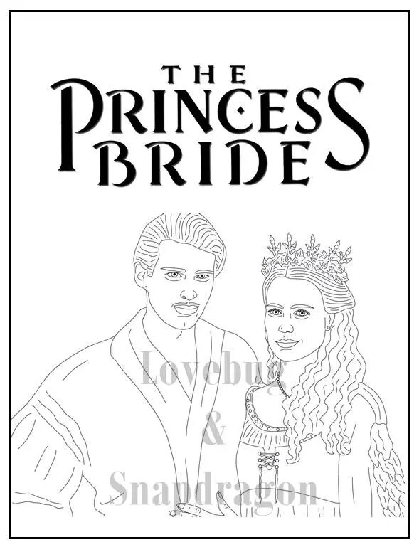 The Princess Bride Coloring Book // Instant Printable Digital
