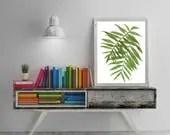 Tropical leaf print. Palm...