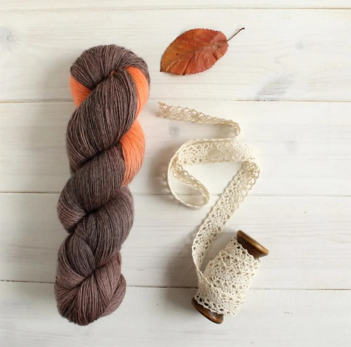 Hand dyed yarn Pumpkin Sp...
