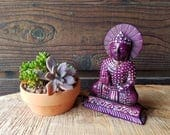 HAND CARVED Sitting Buddh...