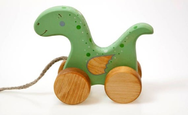 Wooden Dinosaur Toy Dino Toy Little Dragon Toy Baby