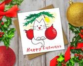 Christmas Cat Card: cute ...