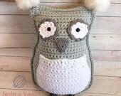 Owl Throw Pillow Crochet ...