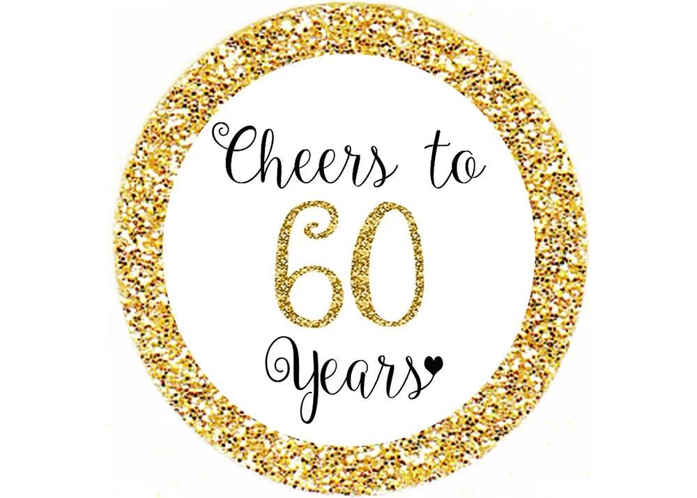 60th Birthday Topper Etsy
