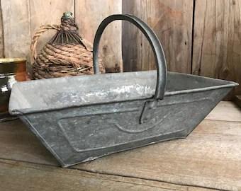 Antique French Zinc Tub Slipper Tub Galvanized Tub Garden