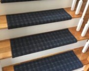 Bespoke Blue True Bullnose™ Carpet Stair Tread – Grand Central - Beaulieu - Scotchgard - Dog Cat- Odor Eliminator- Magic Fresh (Sold Each)