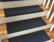 Bespoke Blue Carpet Stair Tread – Grand Central - Beaulieu - Scotchgard - Dog Cat- Odor Eliminator- Magic Fresh (Sold Each)