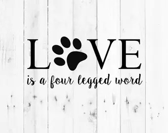 Download Four legged word | Etsy