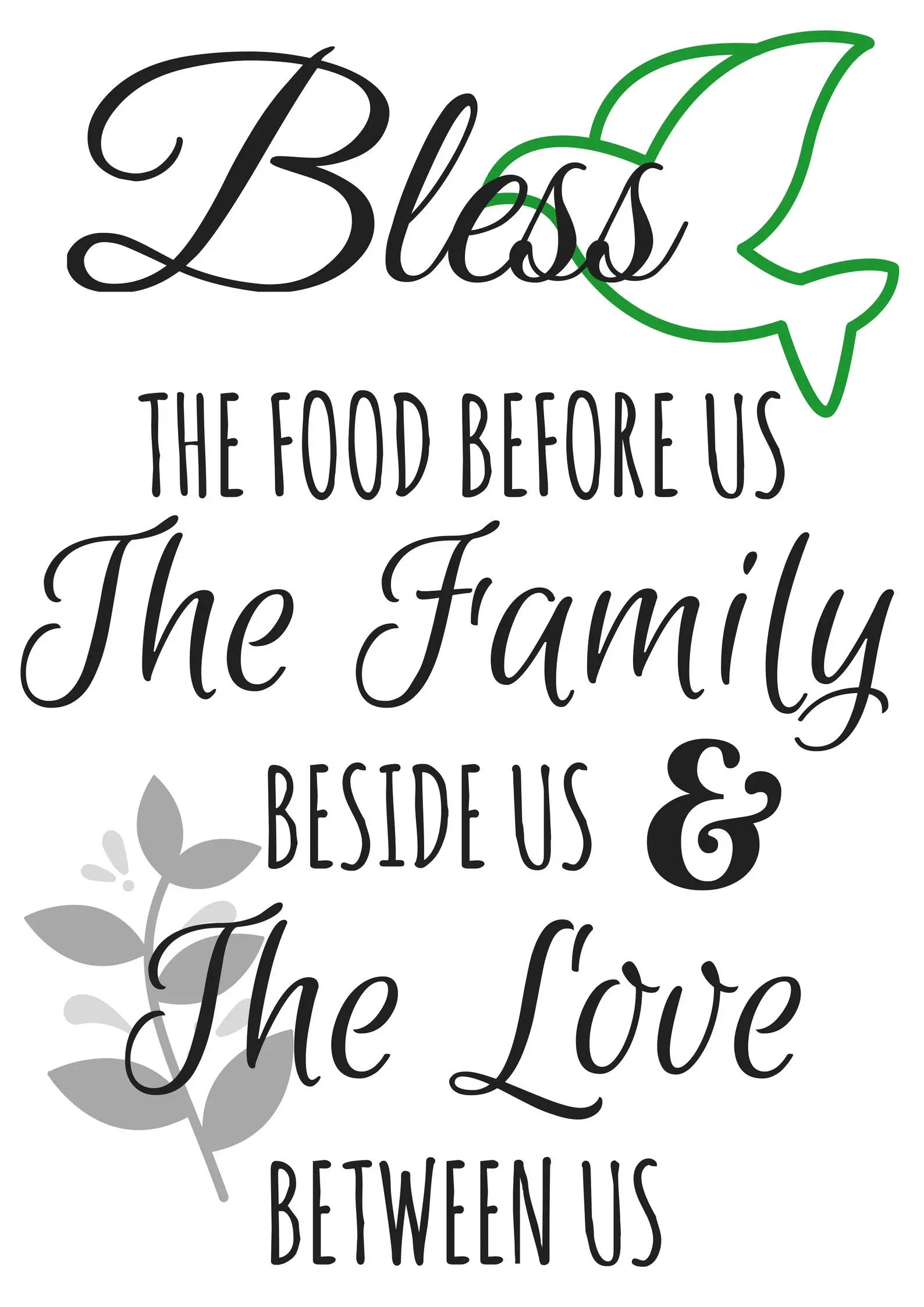 Kitchen Art Set Canvas SALE Bless the Food Before Us and The