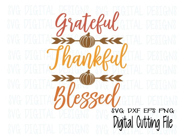 fall quote svg grateful thankful