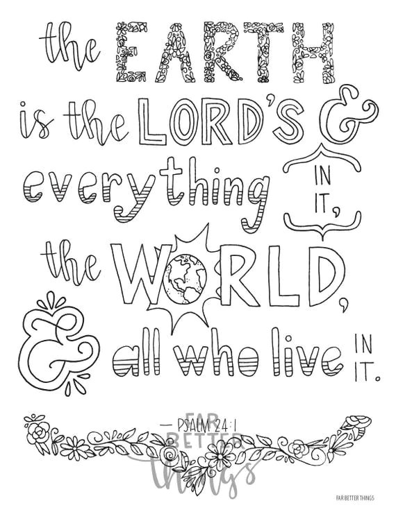 Psalm 107 1 Coloring Page Coloring Pages