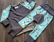 Custom Grow With Me sets tops maxaloons joggers harem pants clothes that grow leggings cloth diaper pants semi custom bum circle pants