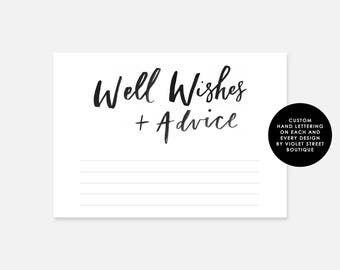 Printable Wishes for the Bride and Groom Template Wedding
