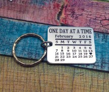 Sobriety Date Keychains - Year of Clean Water