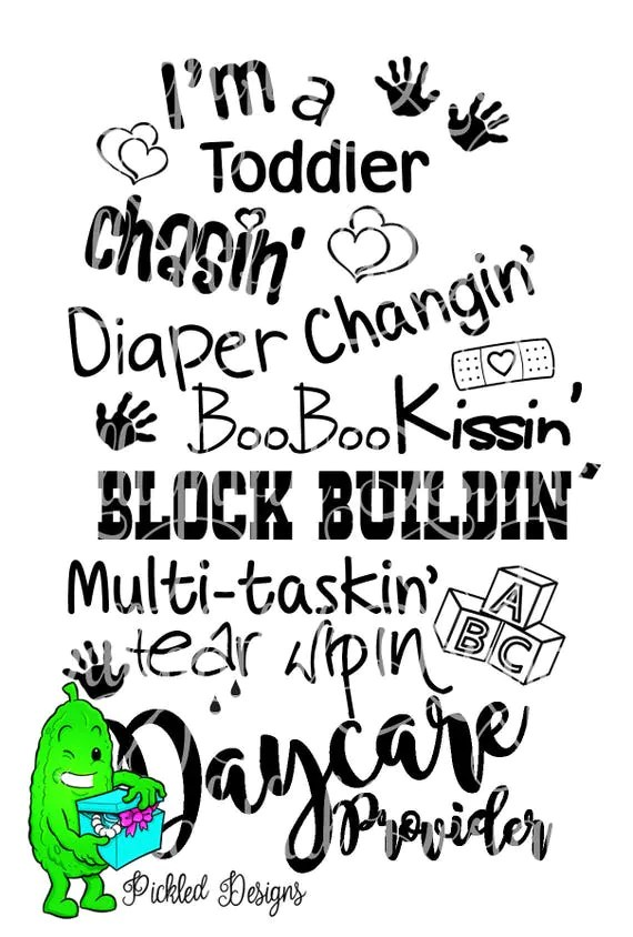 DAYCARE PROVIDER Teacher svg diaper changing PreSchool