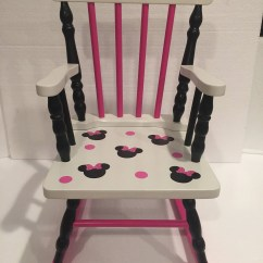 Minnie Mouse Upholstered Chair Shower With Swivel Seat Rocking Kids Bedroom