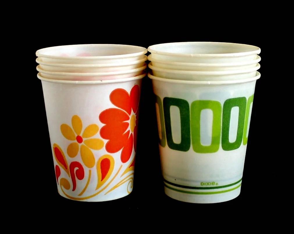 5 oz Dixie Cups Small 1970s Kitchen  Bathroom Vintage
