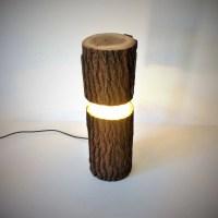 log lamp, rustic lamp, log light, led lamp, led log light ...
