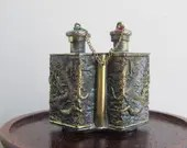 Vintage double snuffbox, ...