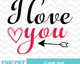 Download Valentines SVG Files I Love You SVG Love You More than