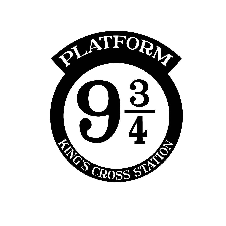 Platform 9 3 4 Platform 9 3 4 Sign Harry Potter Svg