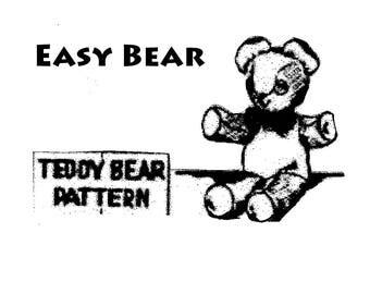 Nell's Teddy Bear Sewing Pattern PDF