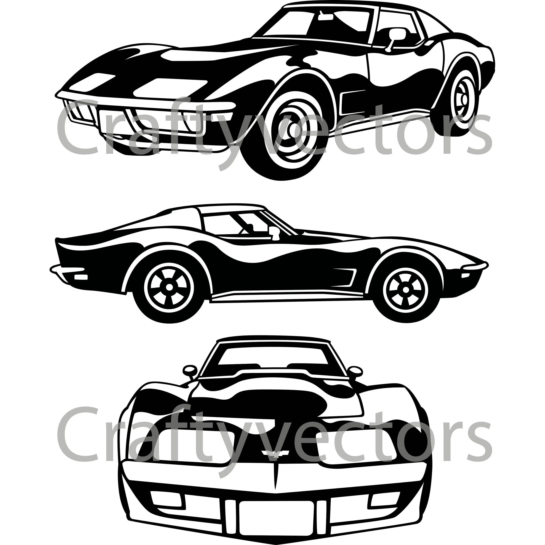 C3 Chevrolet Corvette Vector File