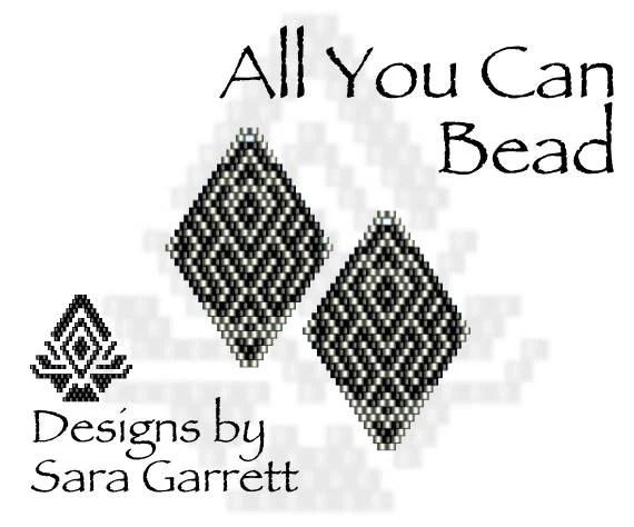 Peyote Earrings Pattern 102 Bead Weaving INSTANT DOWNLOAD PDF
