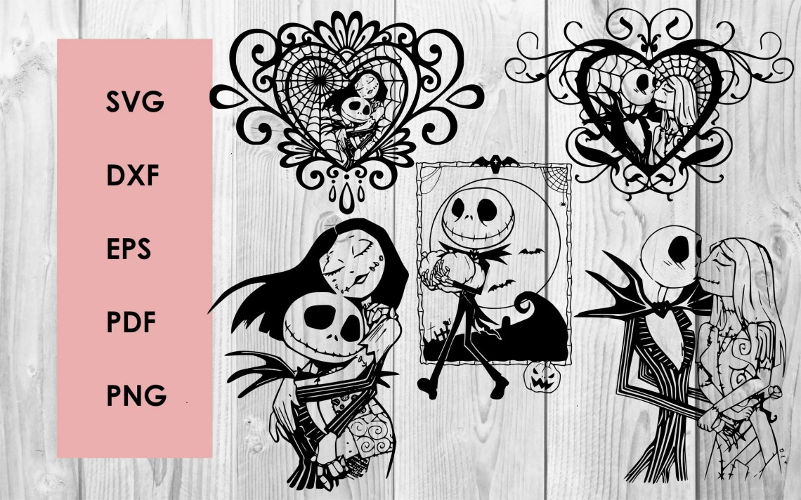Download Nightmare before christmas SVG DXF PNG cutting file