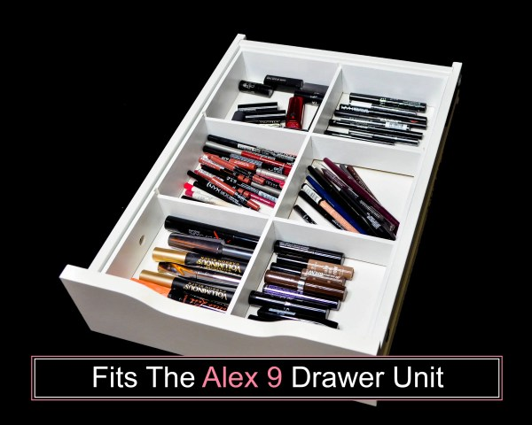 6 Divider Drawer Organizer Fits Alex 9 Drawer Unit Makeup