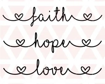 Download Hope faith love svg | Etsy