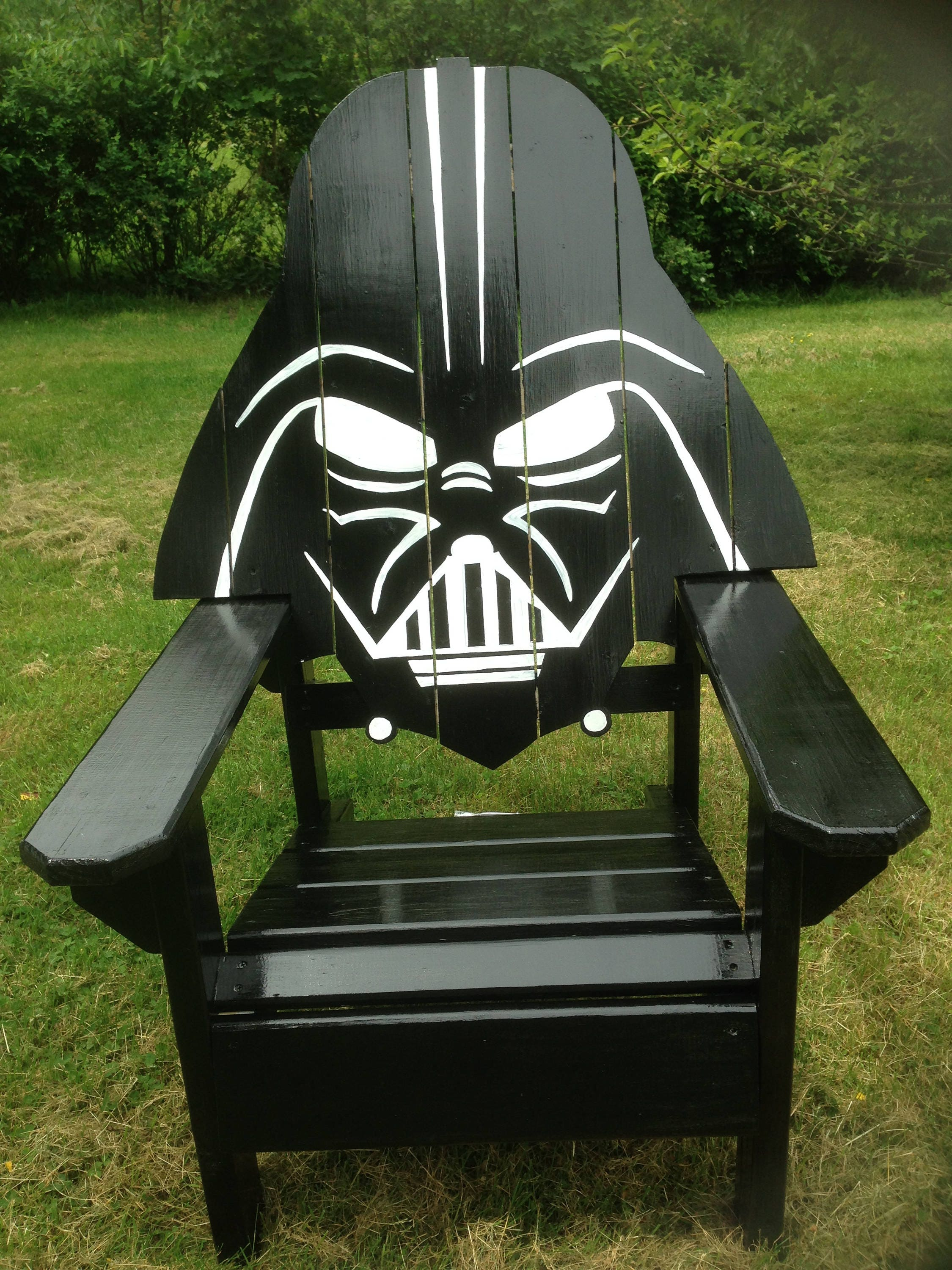 custom gaming chairs wheelchair wheels darth vader adirondack chair painted version star wars themed