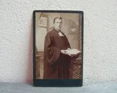 Antique cabinet card of a...