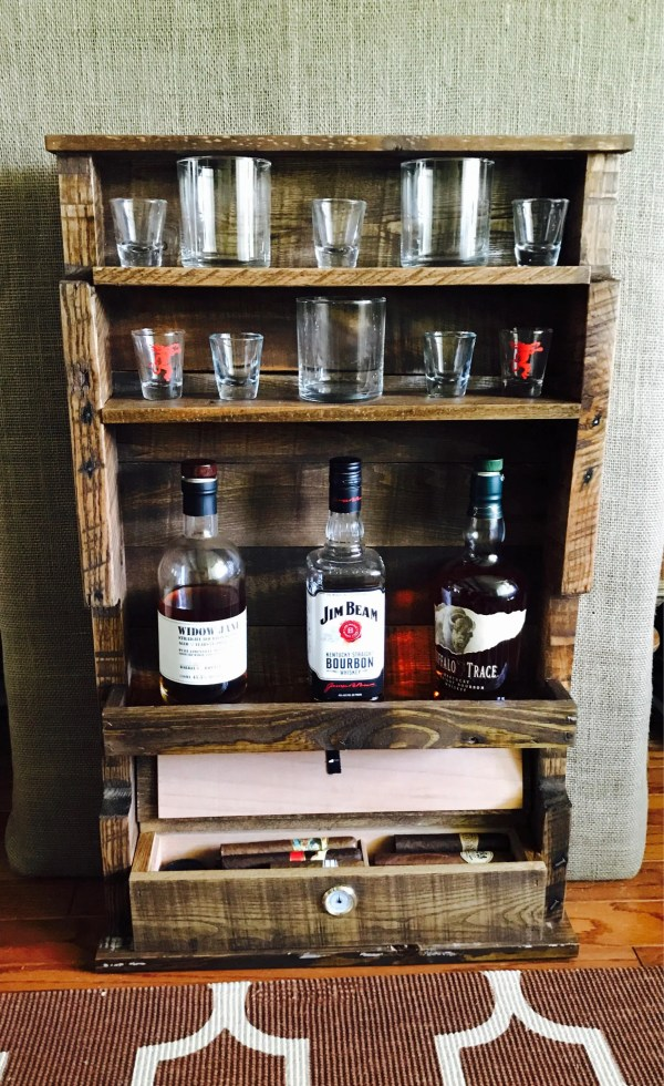 Whiskey and Cigar Display Humidor
