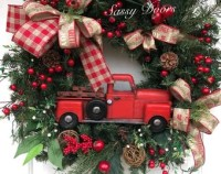 Red truck | Etsy