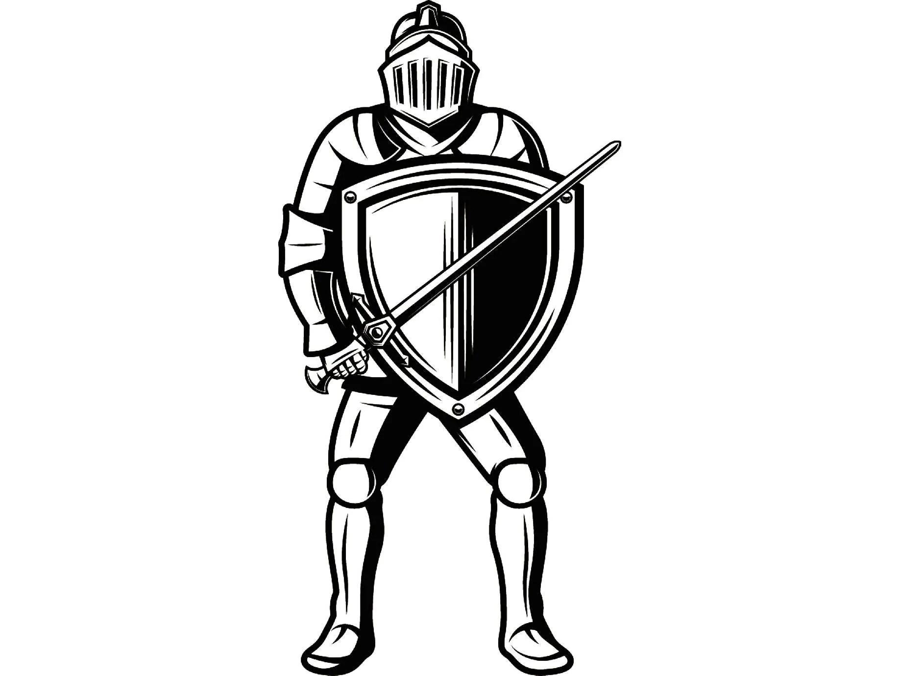 Caballero armadura metálica 1 casco espada escudo monarca