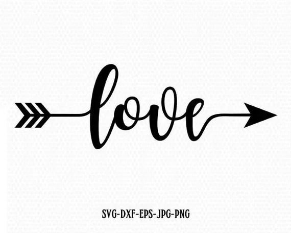 Download Love Valentine SVG Valentines Day SVG Love arrow SVG CriCut