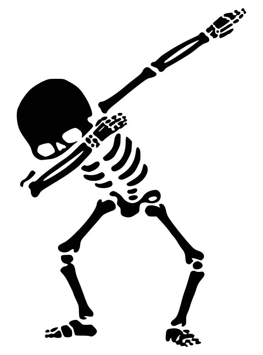 Skeleton Dab SVG JPG studio3