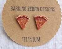 Pizza Earrings Pizza Slice Stud Earrings