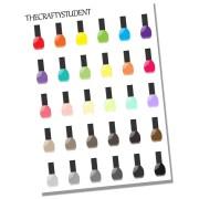 nail polish sheets