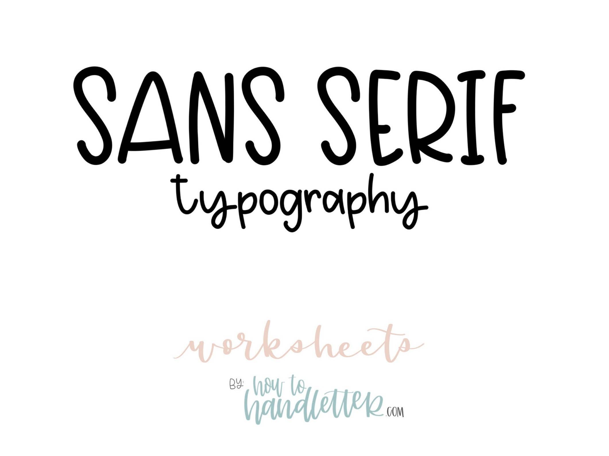 Sans Serif Block Letters Uppercase Amp Lowercase Worksheets