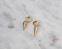 Gold Huggie Earrings Gold Spike Earrings Hoop Earrings