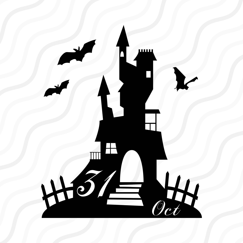 Haunted House Svg Halloween Clipart Halloween Svg Cut